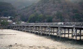 Γέφυρα Arashiyama στο Κιότο, Ιαπωνία Στοκ Εικόνα