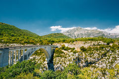 Γέφυρα Artuby πέρα από το φαράγγι Verdon στη Γαλλία Στοκ Εικόνες