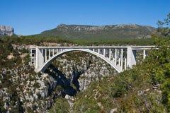 Γέφυρα Artuby, φαράγγι Verdon, Γαλλία Στοκ Εικόνες