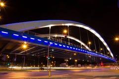 Γέφυρα Basarab στη νύχτα Στοκ Εικόνα