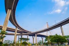 Γέφυρα Bhumibol, η βιομηχανική γέφυρα δαχτυλιδιών ή μέγα γέφυρα Στοκ φωτογραφία με δικαίωμα ελεύθερης χρήσης