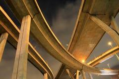 Γέφυρα Bhumibol σε Bnagkok Ταϊλάνδη Στοκ Φωτογραφίες
