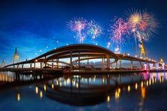 Γέφυρα Bhumibol Στοκ εικόνες με δικαίωμα ελεύθερης χρήσης
