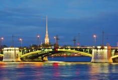 Γέφυρα Birzhevoy Του ST - Πετρούπολη, Ρωσία στοκ εικόνα
