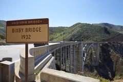 Γέφυρα 1932 Bixby Στοκ Εικόνες