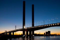 Γέφυρα Bolte στο σούρουπο Στοκ εικόνες με δικαίωμα ελεύθερης χρήσης