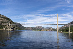 Γέφυρα Brucke Lysefjord στη Νορβηγία Στοκ φωτογραφίες με δικαίωμα ελεύθερης χρήσης
