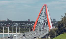 Γέφυρα Bugrinsky στοκ φωτογραφία