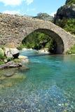 Γέφυρα Bujaruelo στην περιοχή Aragà ³ ν στην Ισπανία Στοκ Φωτογραφία