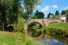 Γέφυρα Canongate πέρα από το νερό Jed στοκ φωτογραφία