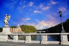 Γέφυρα Castel Sant Angelo Αγίου Angelo Castle Στοκ εικόνα με δικαίωμα ελεύθερης χρήσης