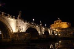 Γέφυρα Castel Sant Angelo Αγίου Angelo Castle Στοκ Φωτογραφίες