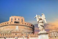Γέφυρα Castel Sant Angelo Αγίου Angelo Castle Στοκ φωτογραφίες με δικαίωμα ελεύθερης χρήσης