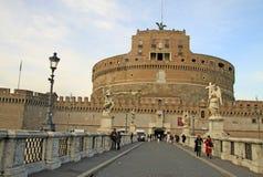 Γέφυρα Castel Sant'Angelo στη Ρώμη, Ιταλία Στοκ φωτογραφίες με δικαίωμα ελεύθερης χρήσης