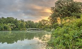Γέφυρα Central Park τόξων Στοκ φωτογραφία με δικαίωμα ελεύθερης χρήσης
