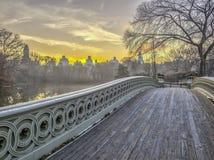 Γέφυρα Central Park τόξων στοκ εικόνα