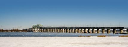 Γέφυρα Champlain, Μόντρεαλ στοκ εικόνες
