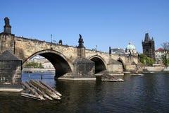 γέφυρα Charles Πράγα Στοκ Εικόνες