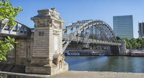γέφυρα Charles l$le Gaulle Παρίσι Στοκ φωτογραφία με δικαίωμα ελεύθερης χρήσης