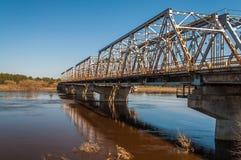 Γέφυρα Daugavpils ποταμών Στοκ εικόνες με δικαίωμα ελεύθερης χρήσης