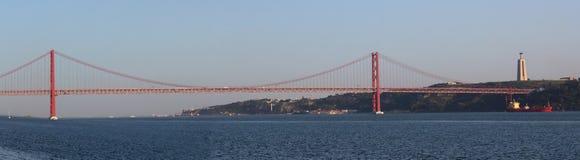 γέφυρα de 25 abril Στοκ φωτογραφία με δικαίωμα ελεύθερης χρήσης