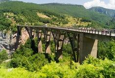 Γέφυρα Djurdjevic στο Μαυροβούνιο στοκ φωτογραφία με δικαίωμα ελεύθερης χρήσης
