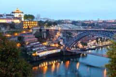Γέφυρα DOM Luis και Βίλα Νόβα ντε Γκάια, Πορτογαλία στοκ εικόνα με δικαίωμα ελεύθερης χρήσης