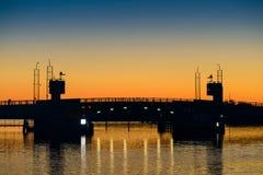 Γέφυρα Dusk Στοκ εικόνα με δικαίωμα ελεύθερης χρήσης
