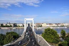 Γέφυρα Elizabeth της Βουδαπέστης Ουγγαρία Ευρώπη Στοκ φωτογραφία με δικαίωμα ελεύθερης χρήσης