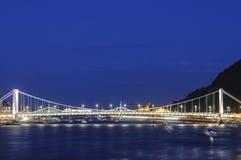 Γέφυρα Elizabeth της Βουδαπέστης Ουγγαρία Ευρώπη Στοκ Φωτογραφίες