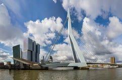 Γέφυρα Erasmus και εικονική παράσταση πόλης του Ρότερνταμ - Κάτω Χώρες Στοκ φωτογραφία με δικαίωμα ελεύθερης χρήσης