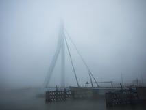 Γέφυρα Erasmus στην πυκνή υδρονέφωση Στοκ φωτογραφία με δικαίωμα ελεύθερης χρήσης