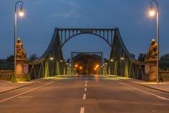 Γέφυρα Glienicke μετωπική Στοκ φωτογραφία με δικαίωμα ελεύθερης χρήσης