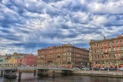 Γέφυρα Gorstkin πέρα από τον ποταμό Fontanka Στοκ εικόνα με δικαίωμα ελεύθερης χρήσης