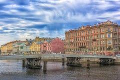Γέφυρα Gorstkin πέρα από τον ποταμό Fontanka Στοκ Φωτογραφίες