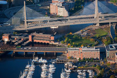 Γέφυρα Hill αποθηκών Zakim Στοκ φωτογραφία με δικαίωμα ελεύθερης χρήσης