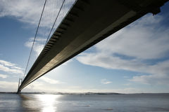 Γέφυρα Humber, Κίνγκστον επάνω στο Hull Στοκ εικόνα με δικαίωμα ελεύθερης χρήσης