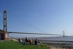 Γέφυρα Humber, Κίνγκστον επάνω στο Hull Στοκ εικόνες με δικαίωμα ελεύθερης χρήσης