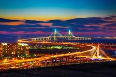 Γέφυρα Incheon στην Κορέα Στοκ Εικόνα