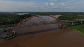 Γέφυρα Kahayan σε Palangkaraya Στοκ Εικόνες