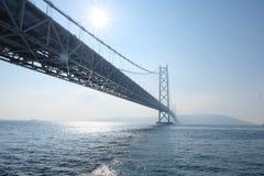 Γέφυρα Kaikyo Akashi στο Kobe, Ιαπωνία Στοκ Φωτογραφία