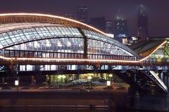 Γέφυρα Khmelnitsky Bogdan και επιχειρησιακή σύνθετη Μόσχα-πόλη Στοκ Εικόνες