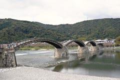 Γέφυρα Kintai σε Iwakuni, νομαρχιακό διαμέρισμα Yamaguchi, Ιαπωνία Στοκ Φωτογραφίες