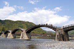 Γέφυρα Kintai σε Iwakuni, νομαρχιακό διαμέρισμα Yamaguchi, Ιαπωνία Στοκ Φωτογραφία