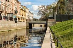 Γέφυρα Krushteyna μέσω του καναλιού ναυαρχείου Στοκ Εικόνες