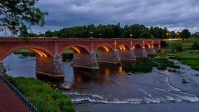 Γέφυρα Kuldiga Στοκ Εικόνες