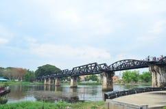 Γέφυρα Kwai ποταμών Στοκ Εικόνες