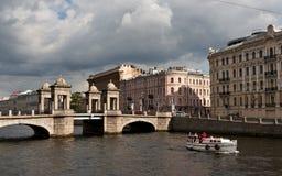 Γέφυρα Lomonosov στη Αγία Πετρούπολη Στοκ Εικόνες