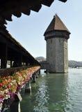 γέφυρα lucern Ελβετία στοκ εικόνες