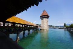 Γέφυρα Luzern Στοκ Εικόνες